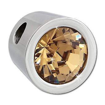 Adamello dreambase-Swarovski rozsdamentes acél medál-sárga kristály VESHS01Y