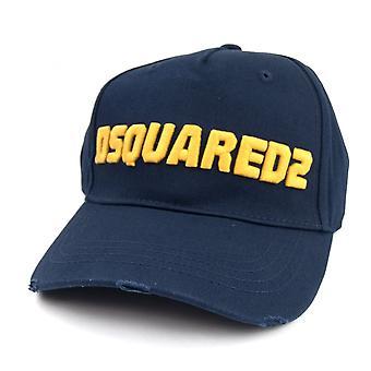 Dsquared2 Logo Baseball Cap Navy/gelb