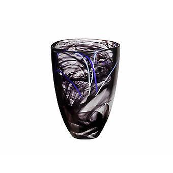 Kosta Boda CONTRAST-Black vase Anna Ehrner-New from the glass prince