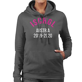 Ischgl Austria 2019 2020 Skiing Women's Hooded Sweatshirt