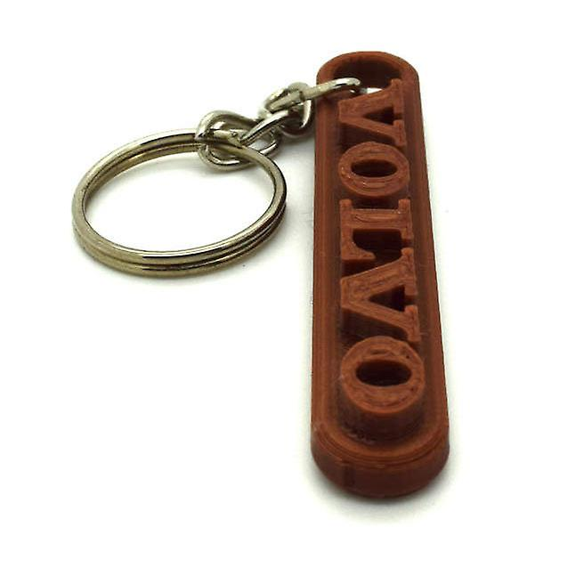 2x Volvo key ring chain accessories bronze
