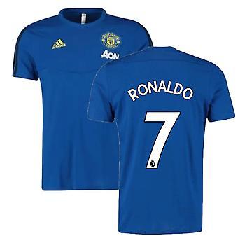 2019-2020 Man Utd Adidas Training Tee (Blue) (Ronaldo 7)