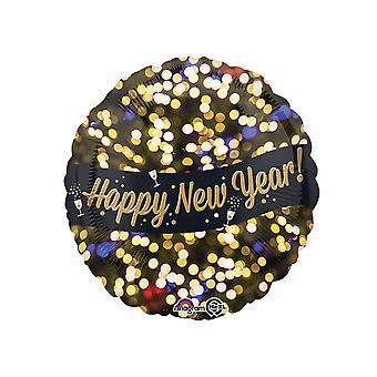 箔バルーン ラウンド アナグラム幸せな新年のお祝い