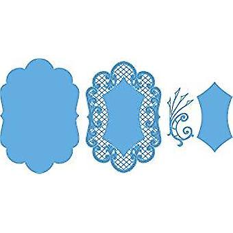 Marianne ontwerp Anjas grote ovale Creatable die, pak van 4, blauw
