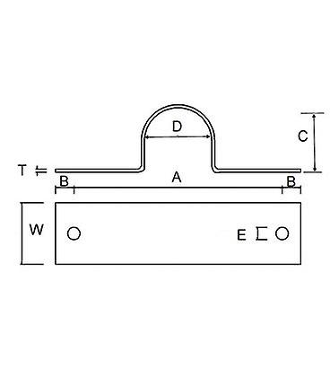 Pipe Saddle Clamp - Guide - 38 Mm Id, 36 Mm Ih, 40 X 6 Mm T304 Stainless Steel (a2)