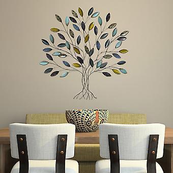 Whimsical Metal Tree Wall Decor
