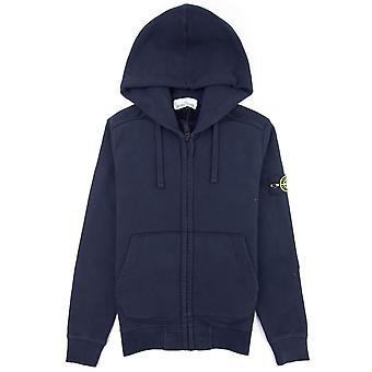Stone Island 60220 zip up hoodie Navy V0020