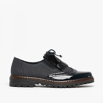 Rieker 54872-14 Ladies Brogue Tassle Shoes Marine/pacific