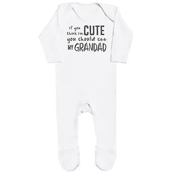 If You Think I'm Cute You Should See My Grandad Baby Romper