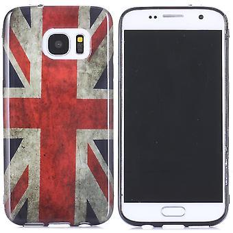 Skrov för Samsung Galaxy S7 Mönster flagga Storbritannien