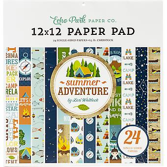 Echo Park Summer Adventure 12x12 Inch Paper Pad