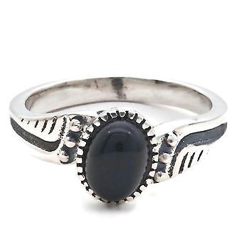 Ring Silver 925 Sterling Silver Onyx Black Stone (Nr: MRI 142)