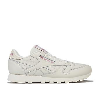 Womens Reebok Classic Leather Trainers In Chalk / Infused Lilac