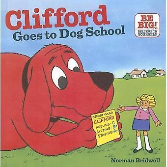 Clifford går till hund skola