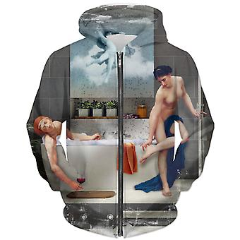 Bathtime unisex zip hoodie