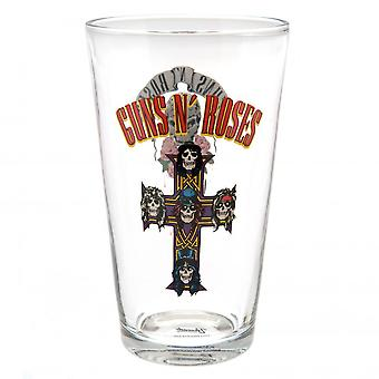 Guns N Roses Large Glass