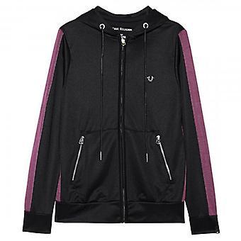 Wahre Religion schwarz Zip-Up Hoody Sweatshirt M19FF04N7G