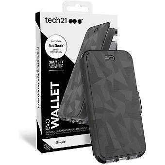 Genuine Tech21 Evo Wallet Flip Case Cover for iPhone 7 Plus / iPhone 8 Plus - Black