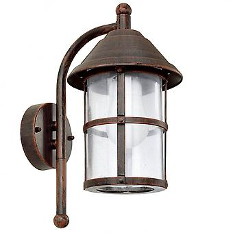 Eglo San TeLmo 1 Light Traditional Outdoor Wall Light Antique Brass