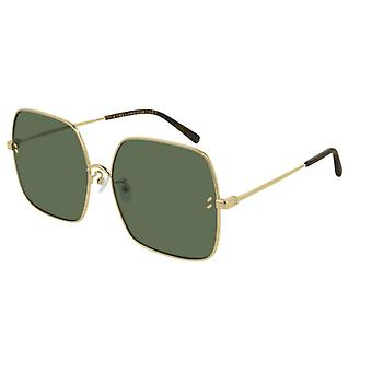 Stella McCartney SC0158S 001 Gold/Green Sunglasses