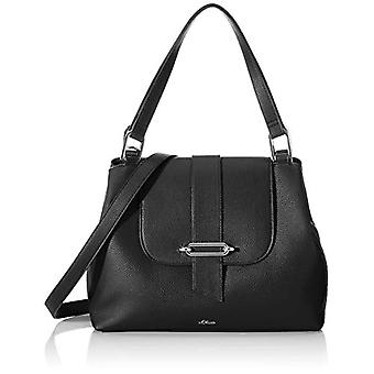 s.Oliver (Bags) 39.001.94.2027 Women's PocketsBlack Shoulder Bag (Grey/Black) 10x26x34 Centimeters (B x H x T)
