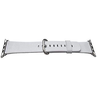 Iwatch strap white 38mm calf stainless steel buckle