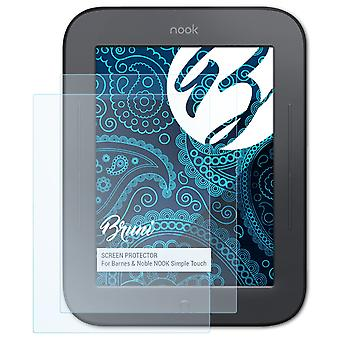 Bruni 2x Screen Protector compatibel met Barnes & Noble NOOK Simple Touch Protective Film
