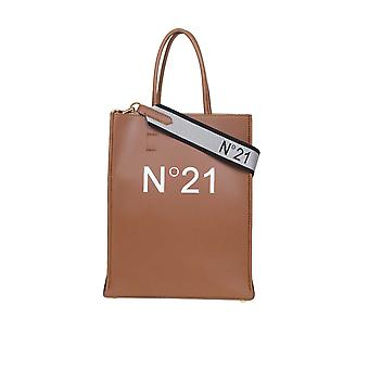 N°21 20ebp0103np00n006 Women's Brown Leather Tote