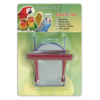 Arquivet Red Mirror 12X10X7 Cm (Birds , Bird Cage Accessories , Mirrors)