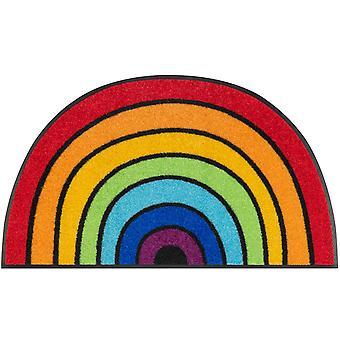 lavabo+ felpudo seco Round Rainbow 50 x 85 cm estera semicircular