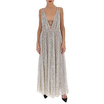 Amen Ams20505722 Women-apos;s Silver Cotton Dress Amen Ams20505722 Women-apos;s Silver Cotton Dress