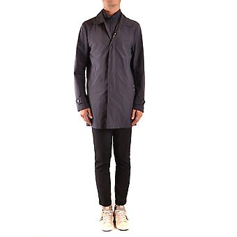 Fay Ezbc035073 Men's Blue Nylon Trench Coat