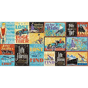 Life's A Journey Ephemera Cards - (16) 4