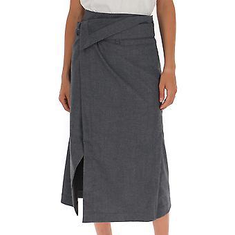 3.1 Phillip Lim 3912wfbme048 Women's Grey Wool Skirt