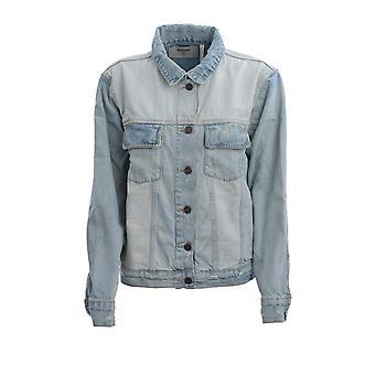 Oneteaspoon 23034kansas Women's Light Blue Cotton Outerwear Jacket