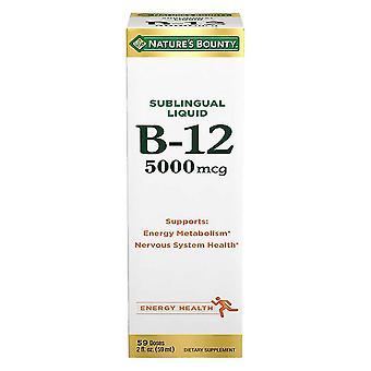 Bounty b-12 de la nature 5000 mcg, liquide sublinguale, 2 oz