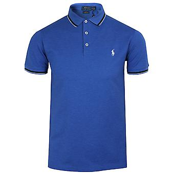 Ralph lauren men's blue tipped polo shirt