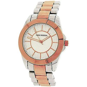 Mark Maddox Ladies Two Tone Decorated Dial Bracelet Strap Watch MM3012-97