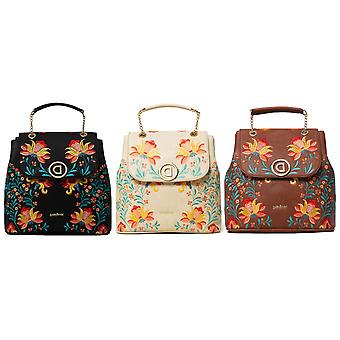 Desigual Women's Adaggio Dever Embroidered Floral Backpack Bag