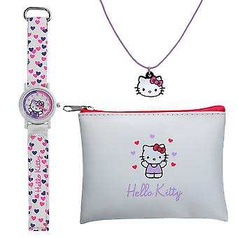 TIKKERS Hello Kitty TIME Teacher Watch, Necklace and Purse Set