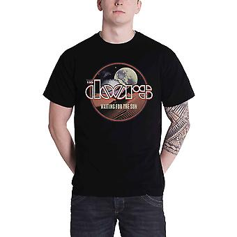 The Doors T Shirt Waiting For The Sun Band Logo new Official Mens Black