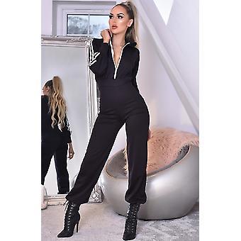 تانيا هودملابس الصالة jumpsuit - أسود