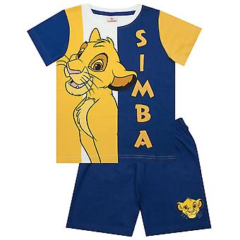 Disney Lion King Simba Boy's Blue Short Pyjamas