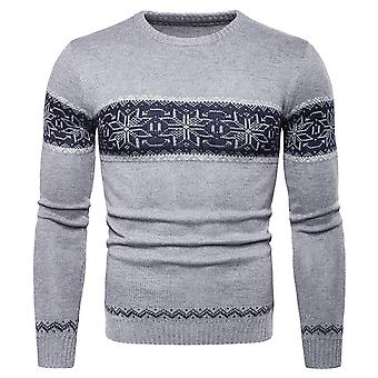 Cloudstyle Men's Sweater Cotton Round Neck Floral Pullover