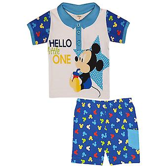 Disney mickey baby boy outfit set polo