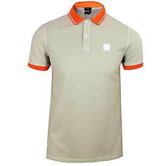 Hugo boss men's beige prim polo shirt