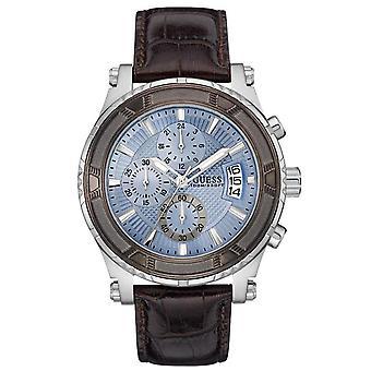 Guess W0673G1 Blue Streak Leder Chronograph Herren Uhr