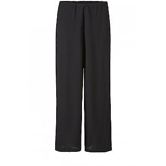 Masai Vêtements Pam Black Wide Leg Culottes