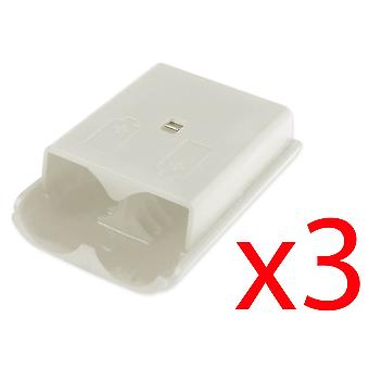 3x Xbox 360 Wireless Controller White Battery Back Cover Pack Replacement Part