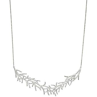 Elements Silver Statement Coral Necklace - Silver